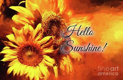 Photograph - Hello Sunshine by Pam  Holdsworth