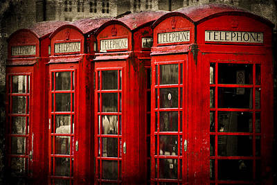 Old Phone Booth Photograph - Hello by Yhun Suarez