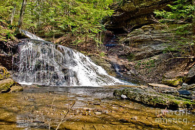 Waterfall Photograph - Hellow Hollow by Pittsburgh Photo Company