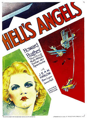 Hells Angels, Jean Harlow On Window Art Print by Everett