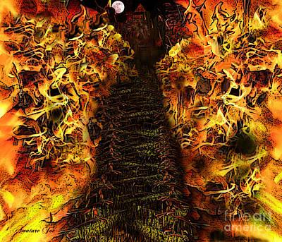 Whitehouse Digital Art - Hells Entrance by Joe Russell