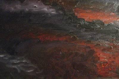 Hell's Fury Art Print by Gloria Condon