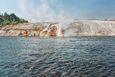 Photograph - Hell's Half Acre And The Firehole River by John M Bailey