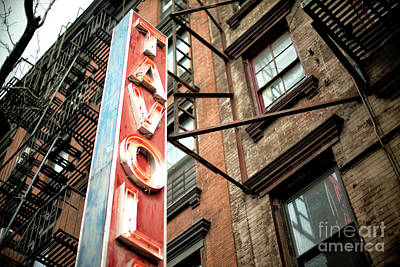 Photograph - Hell's Kitchen Sign by John Rizzuto