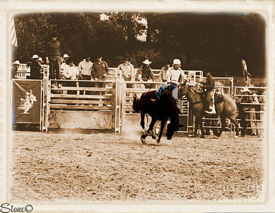 Photograph - Helluva Rodeo-the Ride 2 by September  Stone