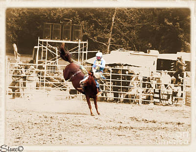 Photograph - Helluva Rodeo-the Ride 3 by September  Stone