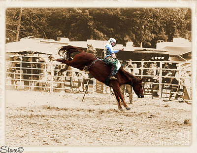 Photograph - Helluva Rodeo-the Ride 4 by September  Stone