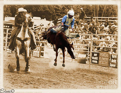 Photograph - Helluva Rodeo-the Ride 5 by September  Stone