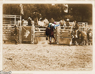 Photograph - Helluva Rodeo The Ride  by September  Stone