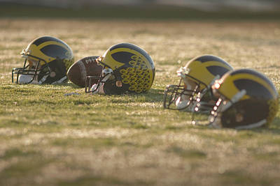 Photograph - Helmets In Golden Dawn Sunlight by Michigan Helmet