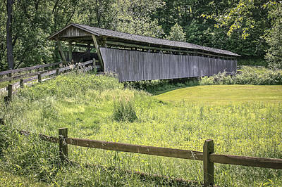 Music Royalty-Free and Rights-Managed Images - Helmick Covered Bridge  by Jack R Perry