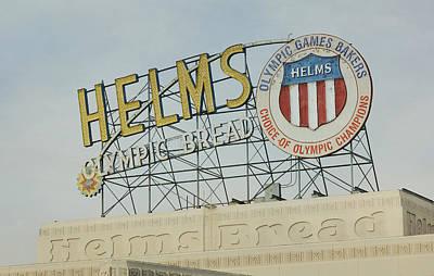 Photograph - Helms Bakery by Fraida Gutovich