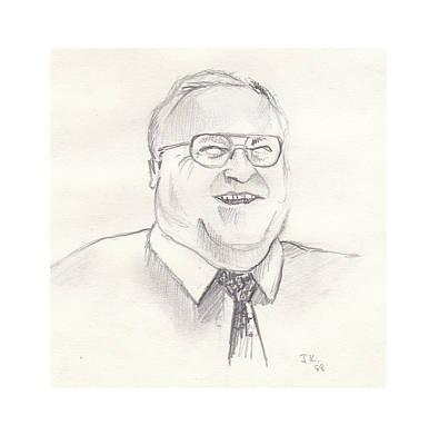 Drawing - Helmut Kohl by John Keaton