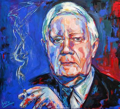 Painting - Helmut Schmidt by Koro Arandia