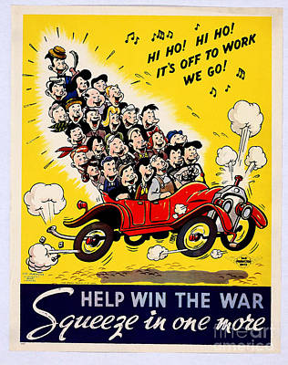 Painting - Help Win The War Squeeze In One More Us War Propaganda Poster by R Muirhead Art