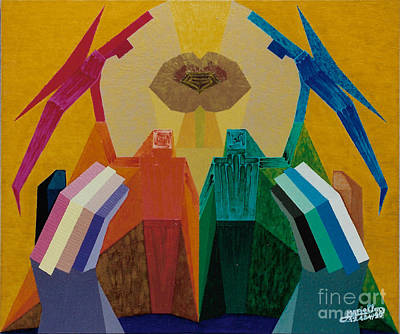 Painting - Helpful God by Michael Bellon