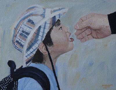 Painting - Helping Hand by Masami Iida