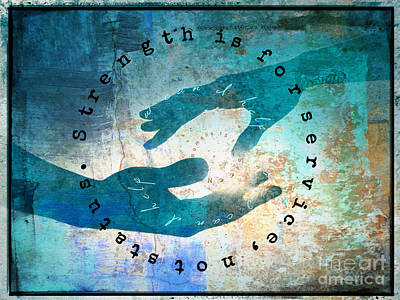 Digital Art - Helping Hands by Christine Nichols