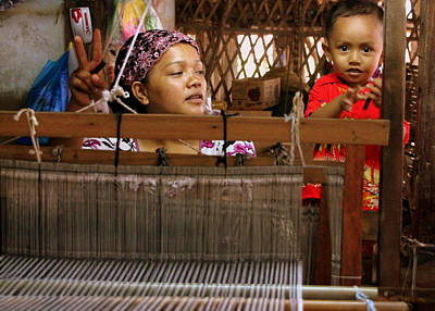 Photograph - Helping Mom With The Weaving by Laurel Talabere