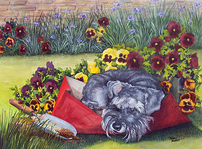 Helping The Gardener Art Print