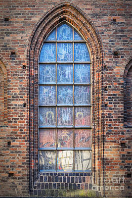 Religious Art Photograph - Helsingborg Church Window by Antony McAulay