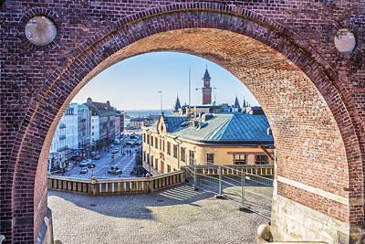 Helsingborg Photograph - Helsingborg Through The Archway by Antony McAulay