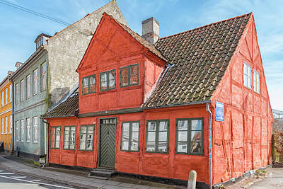 Color Block Photograph - Helsingor Old Building by Antony McAulay