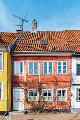 Color Block Photograph - Helsingor Old Building Facade by Antony McAulay