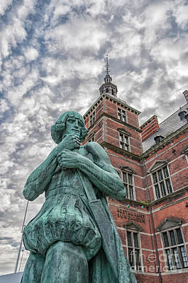 Photograph - Helsingor Train Station Statue by Antony McAulay