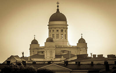 Photograph - Helsinki Cathedral by Andrew Matwijec