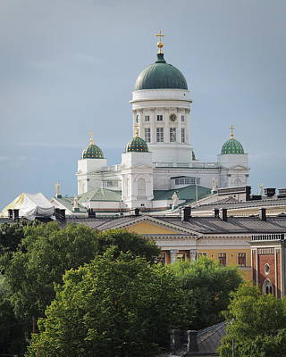 Photograph - Helsinki Cathedral by Terry Fleckney