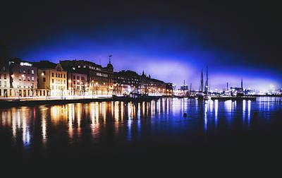 Photograph - Helsinki Harbor At Dusk by Skitterphoto