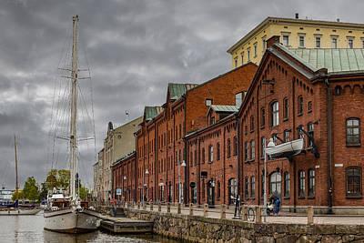 Port Town Mixed Media - Helsinki Harbor by Capt Gerry Hare