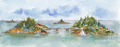 Painting - Helsinki Islands No 1 by Pat Katz