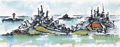 Painting - Helsinki Islands No 2 by Pat Katz