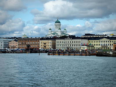 Photograph - Helsinki Skyline by Terry Fleckney