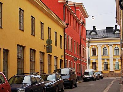 Photograph - Helsinki Street Scene by Terry Fleckney