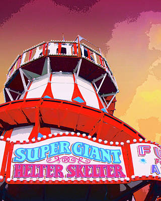 Roller Coaster Mixed Media - Helter Skelter by Dominic Piperata