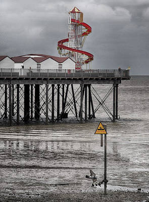 Helter Skelter - Herne Bay  Art Print by Philip Openshaw
