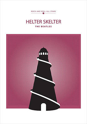 Drawing - Helter Skelter -- The Beatles by David Davies