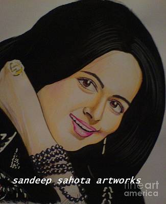 Alfred George Stevens Painting - Hema Malini by Sandeep Kumar Sahota