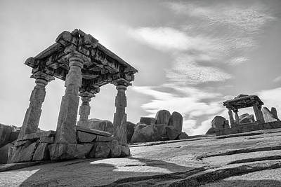 Art Print featuring the photograph Hemakuta Hill, Hampi, 2017 by Hitendra SINKAR