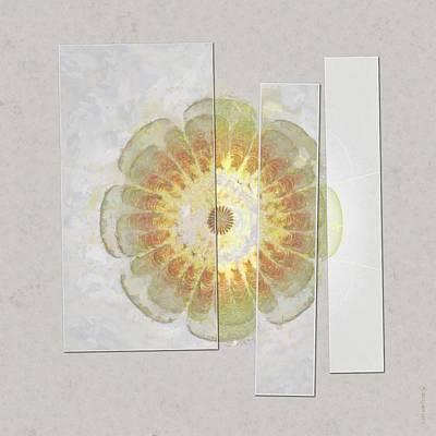 Light Goldenrod Painting - Hemicollin Harmony Flower  Id 16164-005948-47051 by S Lurk