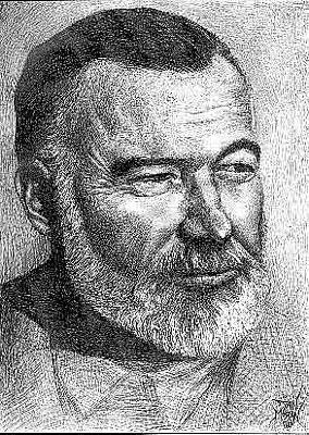 Drawing - Hemingway by Dan Moran