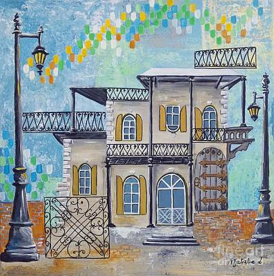 Hemingway House Wall Art - Painting - Hemingway Houses by Natalie L