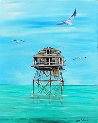 Hemingway Stilt House Art Print