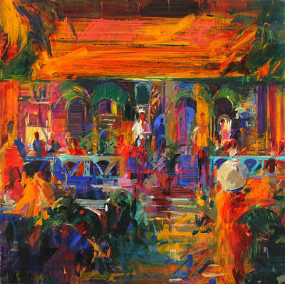 Restaurant Decor Painting - Hemingway Summer by Peter Graham