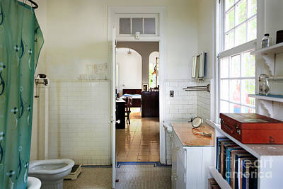 Photograph - Hemingways' Cuba House Bathroom No. 9 by Craig J Satterlee