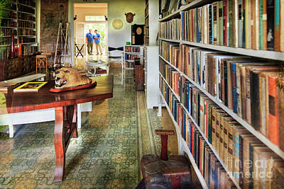 Photograph - Hemingways' Cuba House Library No.8 by Craig J Satterlee