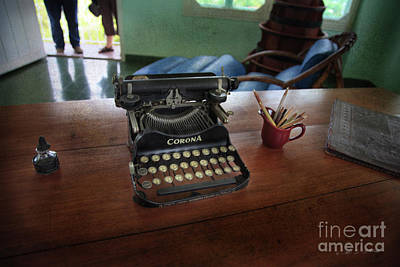 Photograph - Hemingways' Cuba Typewriter No. 6 by Craig J Satterlee